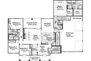 European Style House Plan - 4 Beds 3.5 Baths 2724 Sq/Ft Plan #21-363 Floor Plan - Main Floor Plan
