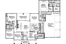 European Floor Plan - Main Floor Plan Plan #21-363