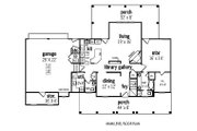 Traditional Style House Plan - 3 Beds 2.5 Baths 2016 Sq/Ft Plan #45-290 Floor Plan - Main Floor Plan