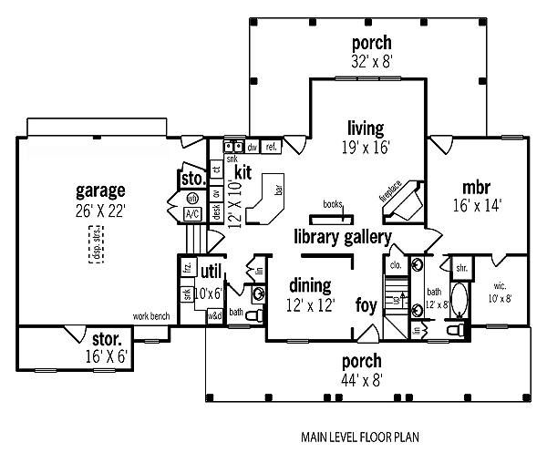 Home Plan - Traditional Floor Plan - Main Floor Plan #45-290