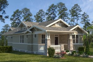 Architectural House Design - Craftsman Exterior - Front Elevation Plan #895-106