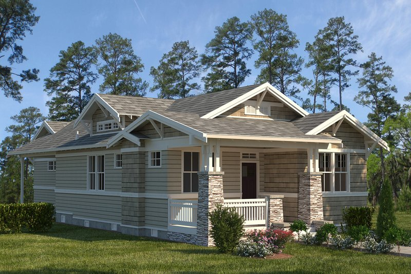 Craftsman Exterior - Front Elevation Plan #895-106
