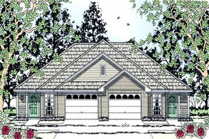Dream House Plan - Country Exterior - Front Elevation Plan #42-376