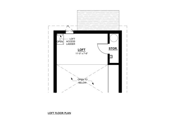 Cottage Floor Plan - Upper Floor Plan #890-9