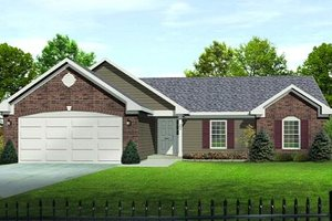 Home Plan - Traditional Exterior - Front Elevation Plan #22-521