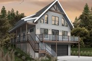 Cottage Style House Plan - 4 Beds 3 Baths 2055 Sq/Ft Plan #23-2718 Exterior - Front Elevation
