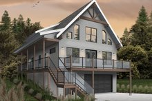 Cottage Exterior - Front Elevation Plan #23-2718