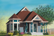 Victorian Style House Plan - 2 Beds 1 Baths 906 Sq/Ft Plan #25-173 Exterior - Front Elevation