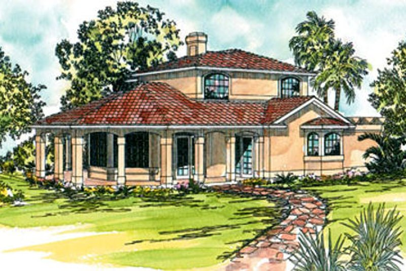 Exterior - Front Elevation Plan #124-236