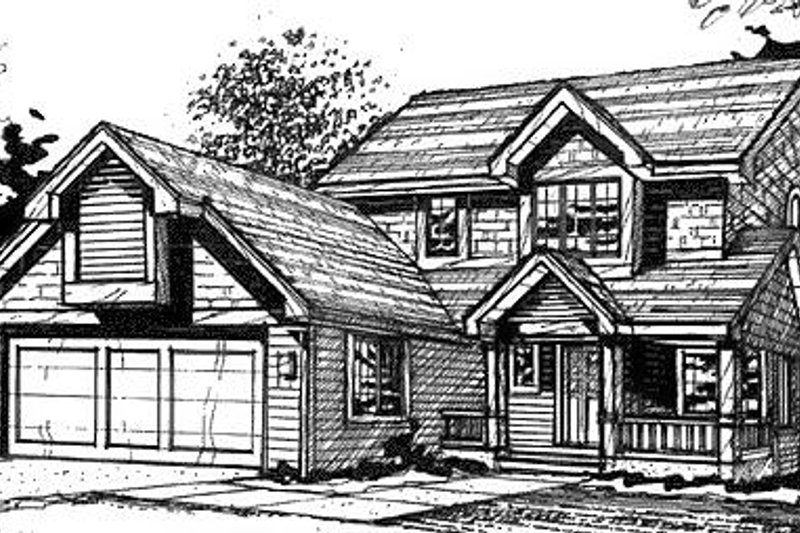 Country Exterior - Front Elevation Plan #320-467