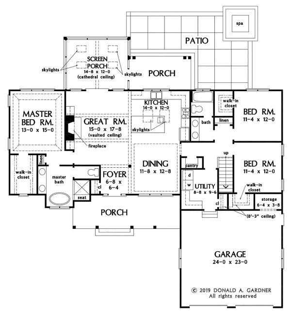 House Plan Design - Ranch Floor Plan - Main Floor Plan #929-1085