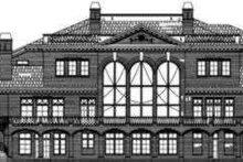 House Design - European Exterior - Rear Elevation Plan #119-178