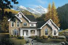 Home Plan - Traditional Exterior - Front Elevation Plan #57-275