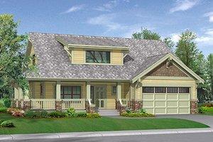 Craftsman Exterior - Front Elevation Plan #132-109