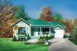 Ranch Exterior - Front Elevation Plan #25-1137
