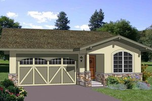 Ranch Exterior - Front Elevation Plan #116-258