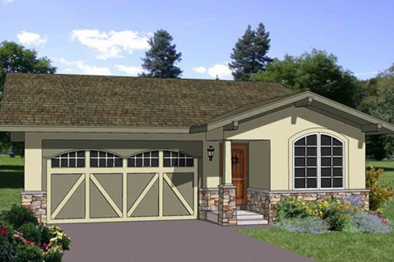 Ranch Style House Plan - 3 Beds 2 Baths 1234 Sq/Ft Plan #116-258 Exterior - Front Elevation