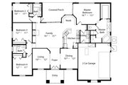 Mediterranean Style House Plan - 4 Beds 3 Baths 2140 Sq/Ft Plan #417-198 Floor Plan - Main Floor Plan