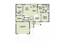 Bungalow designed house plan, ranch style floor plan
