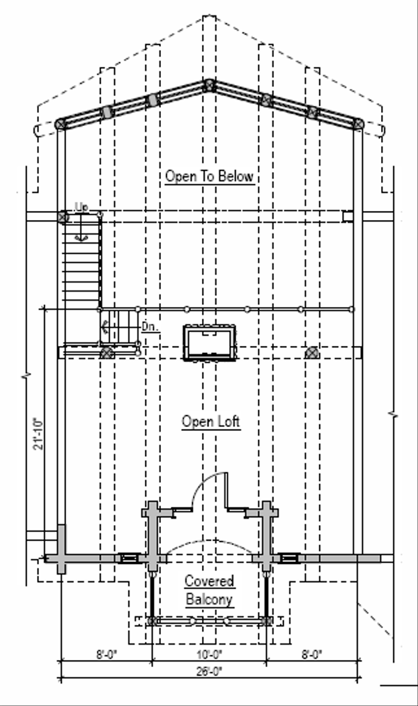 Log Floor Plan - Upper Floor Plan Plan #451-2