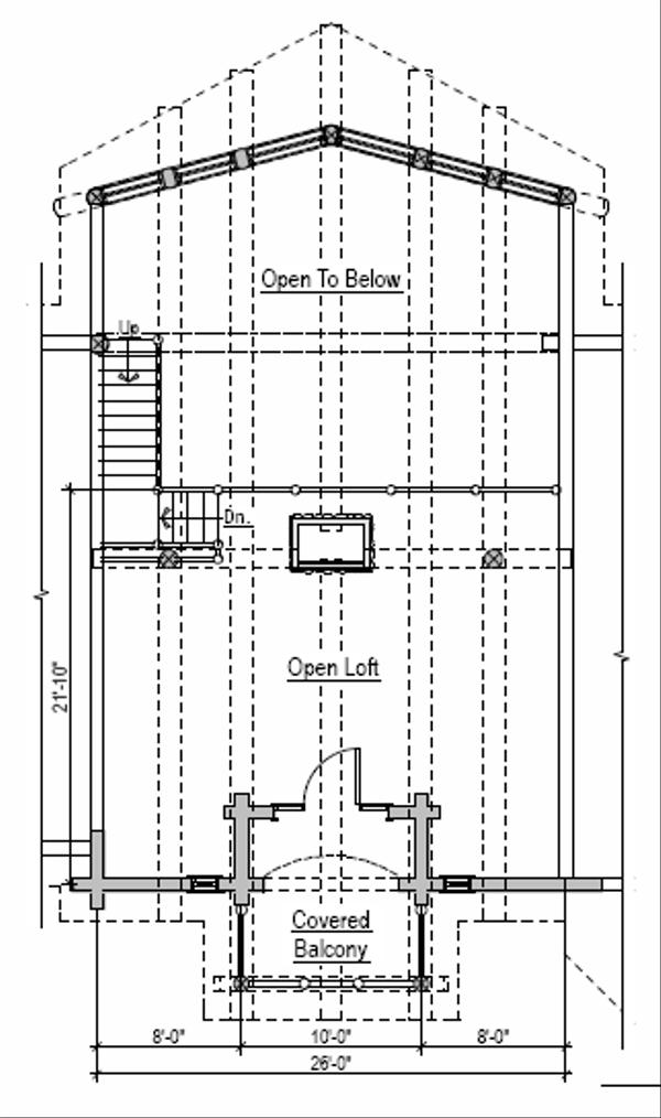 Log Floor Plan - Upper Floor Plan #451-2