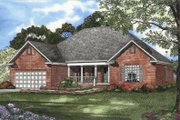 European Style House Plan - 4 Beds 2 Baths 1880 Sq/Ft Plan #17-1112 Exterior - Front Elevation