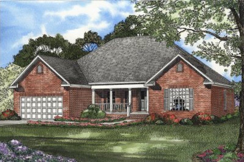 House Plan Design - European Exterior - Front Elevation Plan #17-1112