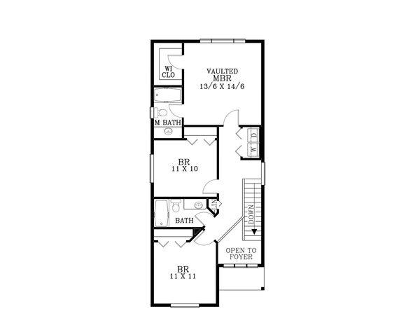 Craftsman Floor Plan - Upper Floor Plan Plan #53-493