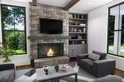 Farmhouse Style House Plan - 3 Beds 2.5 Baths 1394 Sq/Ft Plan #48-992 Interior - Family Room