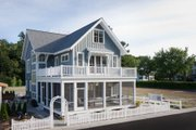 Beach Style House Plan - 4 Beds 3.5 Baths 2769 Sq/Ft Plan #901-120 Photo