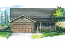 House Plan Design - Craftsman Exterior - Front Elevation Plan #53-609