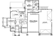 Bungalow Style House Plan - 5 Beds 4 Baths 2673 Sq/Ft Plan #5-386 Floor Plan - Main Floor Plan