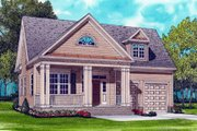 Colonial Style House Plan - 3 Beds 2 Baths 1728 Sq/Ft Plan #413-789 Exterior - Front Elevation