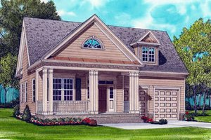 Colonial Exterior - Front Elevation Plan #413-789