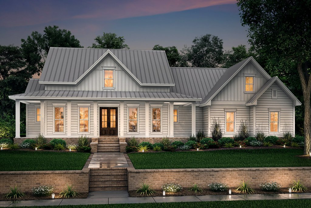 Farmhouse Style House Plan 3 Beds 2 5 Baths 2282 Sq Ft