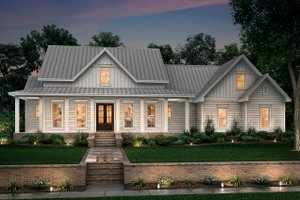 Home Plan - Farmhouse Exterior - Front Elevation Plan #430-160