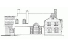 Country Exterior - Rear Elevation Plan #137-148