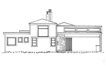 House Plan Design - Contemporary Exterior - Rear Elevation Plan #942-49