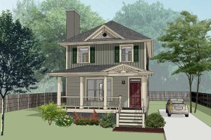 House Plan Design - Southern Exterior - Front Elevation Plan #79-196