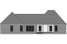 House Plan Design - Country Exterior - Rear Elevation Plan #21-384