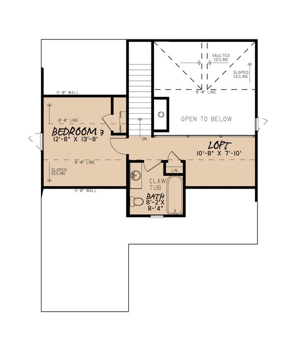 Craftsman Floor Plan - Upper Floor Plan Plan #923-13
