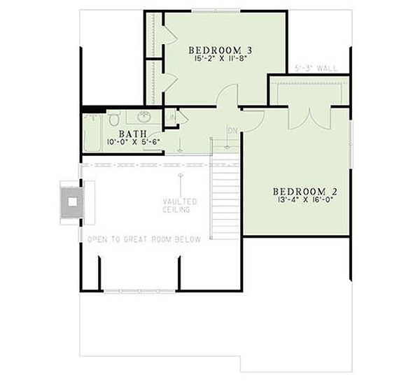 Bungalow Floor Plan - Upper Floor Plan Plan #17-2481