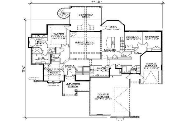 House Plan Design - European Floor Plan - Main Floor Plan #5-295