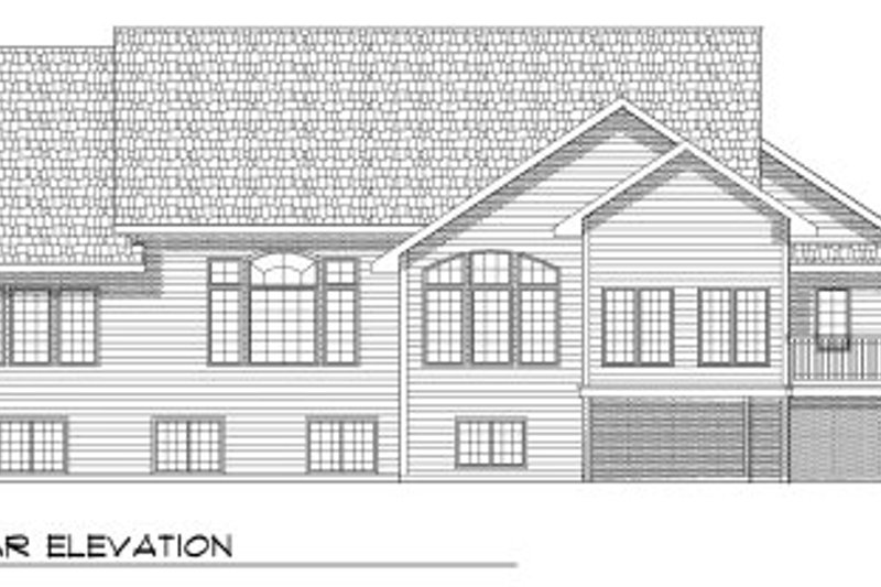 Traditional Exterior - Rear Elevation Plan #70-786 - Houseplans.com