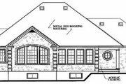 European Style House Plan - 3 Beds 2 Baths 1736 Sq/Ft Plan #23-127 Exterior - Rear Elevation