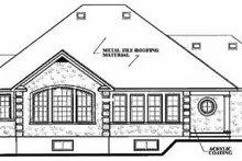 House Design - European Exterior - Rear Elevation Plan #23-127