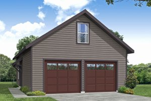 Traditional Exterior - Front Elevation Plan #124-1196