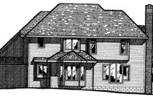 Traditional Exterior - Rear Elevation Plan #20-1044
