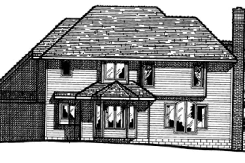 Traditional Exterior - Rear Elevation Plan #20-1044 - Houseplans.com