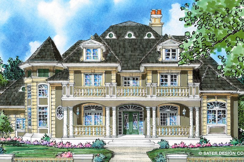 Classical Style House Plan - 4 Beds 3.5 Baths 3610 Sq/Ft Plan #930-271 Exterior - Front Elevation